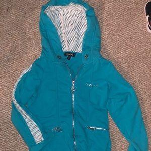 Bebe blue/white hoodie
